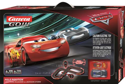62435 Carrera Go!!! Disney Pixar Cars 3 Pole Position Slot Car Set