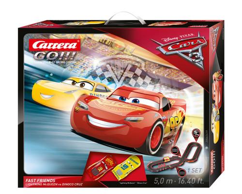 62419 Carrera Go!!! Disney Pixar Cars 3 Fast Friends 1:32 Slot Car Set