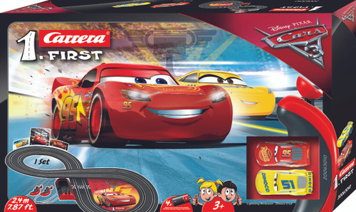 Carrera FIRST Disney Pixar Cars 3 Lightning McQueen Battery Operated Slot Car Set