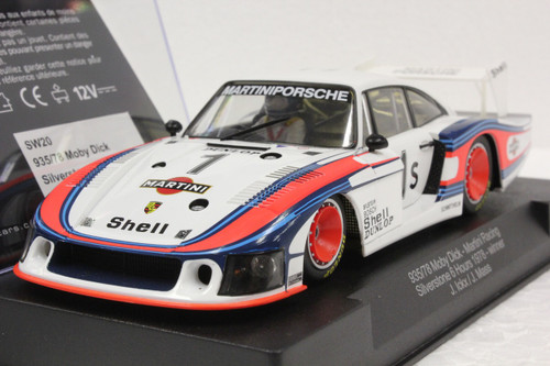 SW20 Racer Sideways Porsche 935/78 Moby Dick Martini Racing Silverstone 6hrs 1978 Winner #1s J. Ickx/J. Mass 1:32 Slot Car