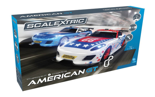 C1361T Scalextric American GT Set GT Lightning NO.27 Vs GT Eagle NO.66