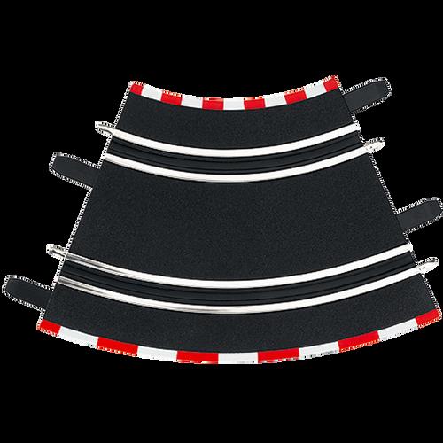 61611 Carrera GO!!! 4 Pieces of Radius 1/45 Degree Curve 1/43 Track