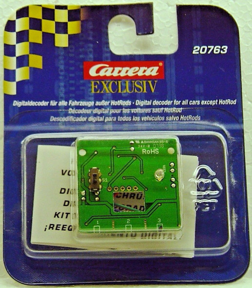 20763 Carrera Digital Decoder for Exclusiv 1/24 Slot Cars except Hot Rods