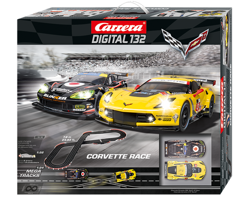 30186 Carrera Digital 132 Corvette Racers 1/32 Slot Car Racing Set30186 Carrera Digital 132 Corvette Racers 1/32 Slot Car Racing Set