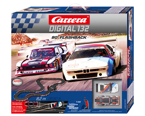 30197 Carrera Digital 132 '80 Flashback Wireless+ 1/32 Slot Car Racing Set