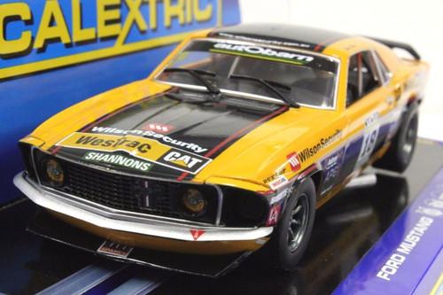 C3671 Scalextric Mustang Trans Am Boss 302, #18 1/32 Slot Car *DPR*