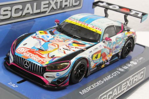 C3852 Scalextric Mercedes AMG GT3 (Anime) 1/32 Slot Car *DPR*