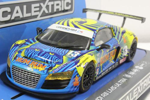 C3854 Scalextric Audi R8 LMS Rum Bum Racing, #13 1/32 Slot Car *DPR*
