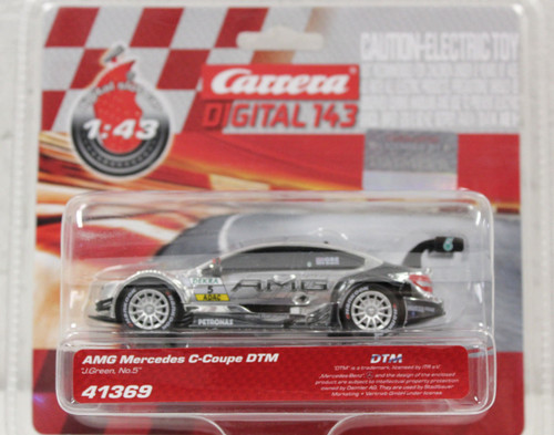 41369 Carrera Digital 143 AMG Mercedes C-Coupe DTM J. Green, #5 1/43 Slot Car