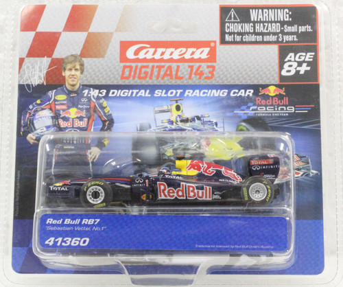 41360 Carrera Digital 143 Red Bull Renault R87 Sebastian Vettel, #1 1/43 Slot Car