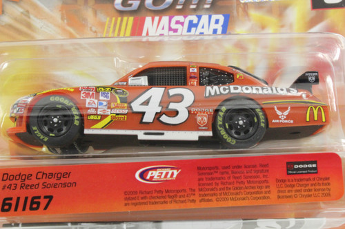 61167 Carrera GO!!! Dodge Charger NASCAR Reed Sorenson, #43 1/43 Slot Car