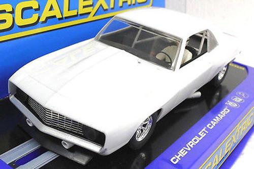 C2451 Scalextric 1969 Chevrolet Camaro Z-28 Plain White 1/32 Slot Car