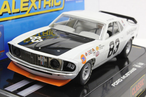 C2890 Scalextric 1971 Ford Mustang, #83 1/32 Slot Car