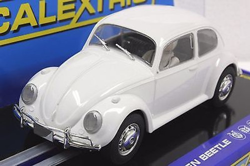 C3362 Scalextric VW Volkswagen Beetle Plain White 1/32 Slot Car *DPR*