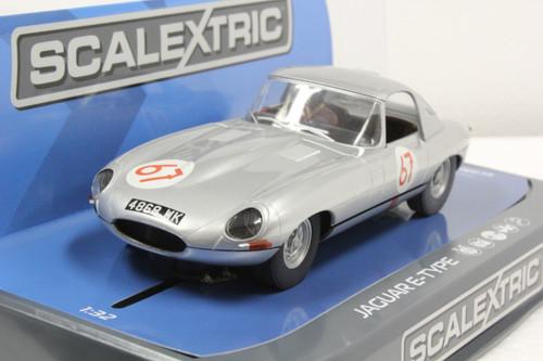C3952 Scalextric Jaguar E-Type 1963 Nurburgring 1000k, #67 1/32 Slot Car