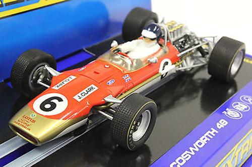 C3311 Scalextric Lotus 49 Gold Leaf Classic F1 Jim Clark, #6 1/32 Slot Car
