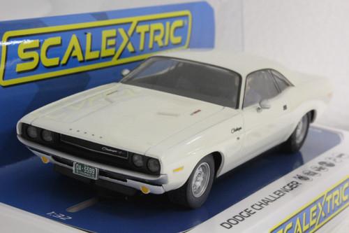 Scalextric C3935 Dodge Challenger White 1/32 Slot Car