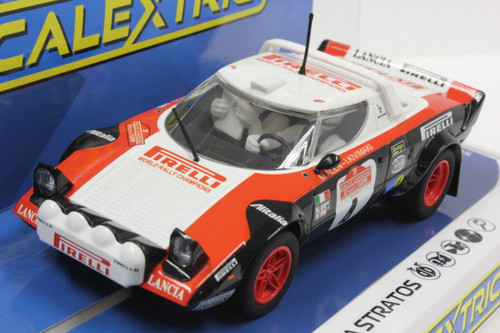 Scalextric C3931 Lancia Stratos San Remo Rally 1978 1/32 Slot Car
