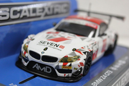 Scalextric C3848 BMW Z4 GT3 AMD Tuning #7 w/Lights 1/32 Slot Car *DPR*