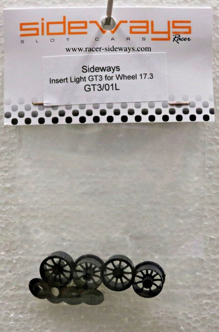 GT3/01L Racer Sideways Lamborghini Huracan GT3 Light Wheels Inserts 17.3mm 1/32 Slot Car Part