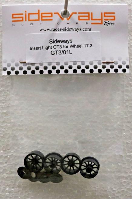 GT3/01L Racer Sideways Lamborghini Huracan GT3 Light Wheels Inserts 17.3mm 1/32 Slot Car Part