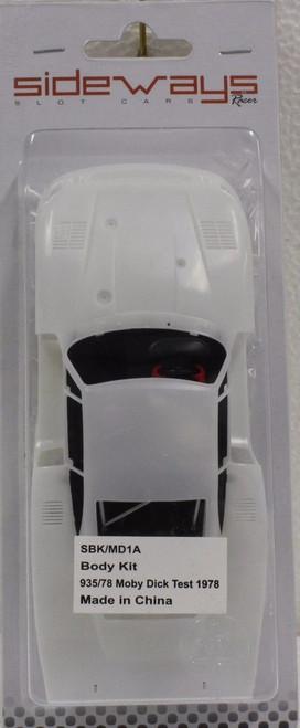 SBK/MD1A Racer Sideways Porsche 935 Moby Dick White Body Kit 1/32 Slot Car Part