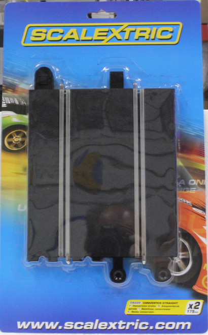 C8222 Scalextric Converter Straight Track 2 Pack 1/32 Slot Car Track