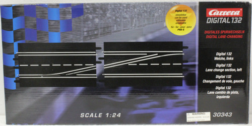 30343 Carrera Digital 1:32 Left Lane Change Track for 1:24 & 1:32 Slot Car Tracks