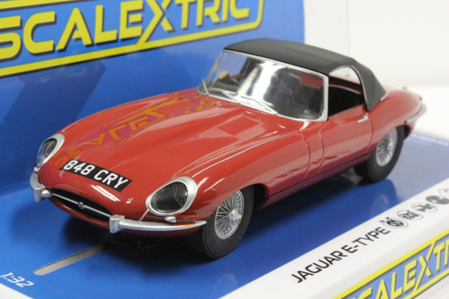 C4032 Scalextric Jaguar E-Type Red 848CRY 1:32 Slot Car