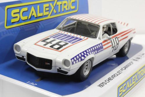 C4043 Scalextric Chevrolet Camaro Stars and Stripes, #48 1:32 Slot Car *DPR*