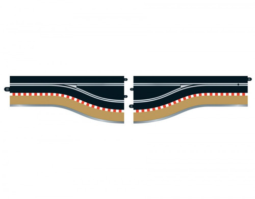 C7014 Scalextric Pit Lane Track (Left Hand) - Includes Sensor 1:32 Slot Car Track
