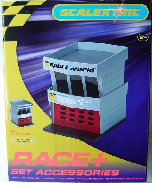 C8321 Scalextric Pit Garage 1:32 Slot Car Accessory