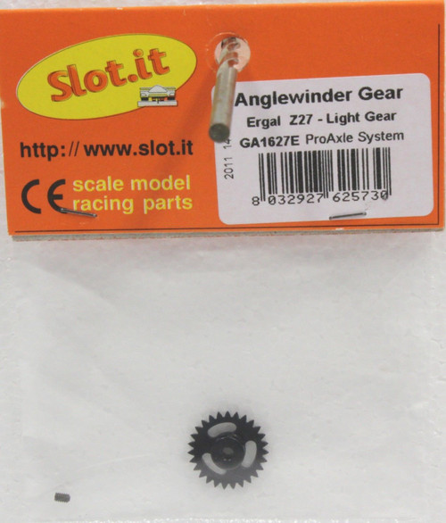 SIGA1627E Slot.it 27-Tooth Anglewinder Pro Gear 3/32 1:32 Slot Car Part