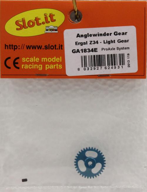 SIGA1834E Slot.it 34 -Tooth Anglewinder 3/32 Pro Gear 1:32 Slot Car Part