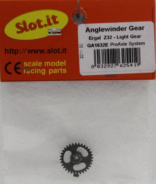 SIGA1632E Slot.it 32 Tooth Anglewinder 3/32 Pro Gear 1:32 Slot Car Part