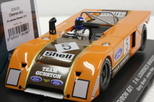 024101 Fly Chevron B21 3H Lourenco Marques 1972 Gerry Birrell/Jochen Mass 1:32 Slot Car