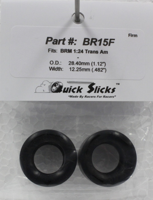 BR15F Quick Slicks Silicone Tires for BRM Trans Am 1:24 Slot Car Part