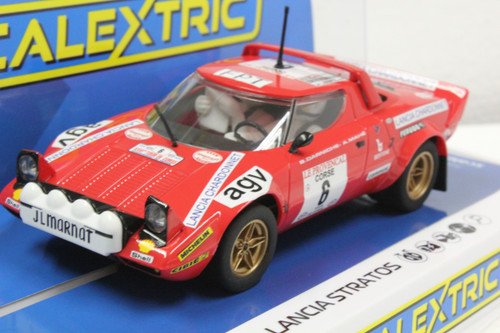 C3930 Scalextric Lancia Stratos Tour De Corse Rally de France 1975 #6 1:32 Slot Car