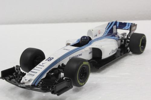 C4021 Scalextric Williams F1 Rexona 2018 Lance Stroll, #18 1:32 Slot Car DPR