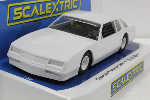 C4072 Scalextric Chevy Monte Carlo 1986 White 1:32 Slot Car DPR