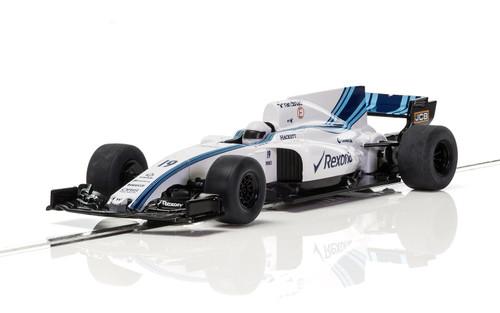 C3955 Scalextric Williams FW40 F1 Rexona 2017 Tooling #19 1:32 Slot Car DPR