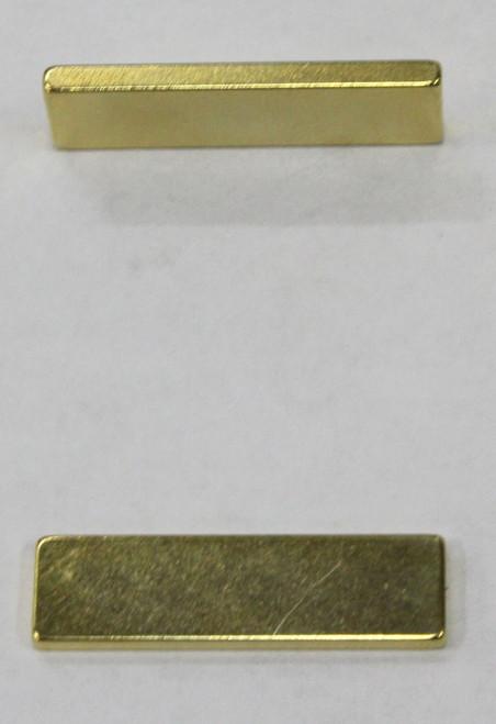 CRM01 Cheetah Racing Magnets - Strong Gold Rectangular Neodymium Magnet (1 Piece) 1:32/1:24 Slot Car Part