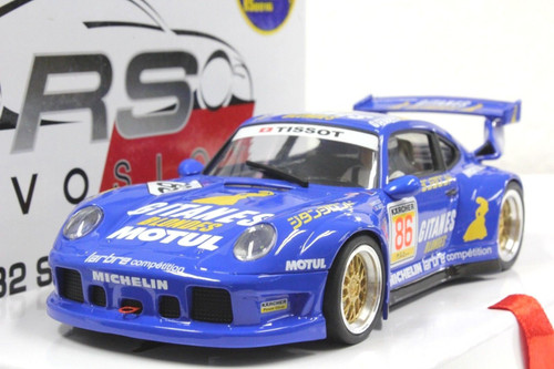 RS0016 RevoSlot Porsche 911 GT2 Blue Gitanes #86 1:32 Slot Car