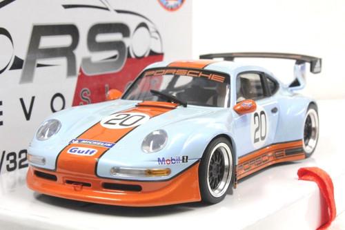RS0015 RevoSlot Porsche 911 GT2 Special Gulf Edition - Pearl Blue #20 1:32 Slot Car