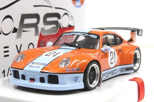 RS0014 RevoSlot Porsche 911 GT2 Special Gulf Edition - Pearl Orange #21 1:32 Slot Car