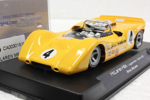 CA00301S/W Thunderslot McLaren M6A Laguna Seca Can-Am 1967 #4 1:32 Slot Car