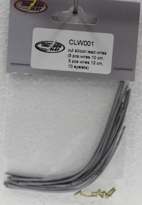 CLW001 Thunderslot Cut Silicon Lead Wires + Eyelets 1:32 Slot Car Part