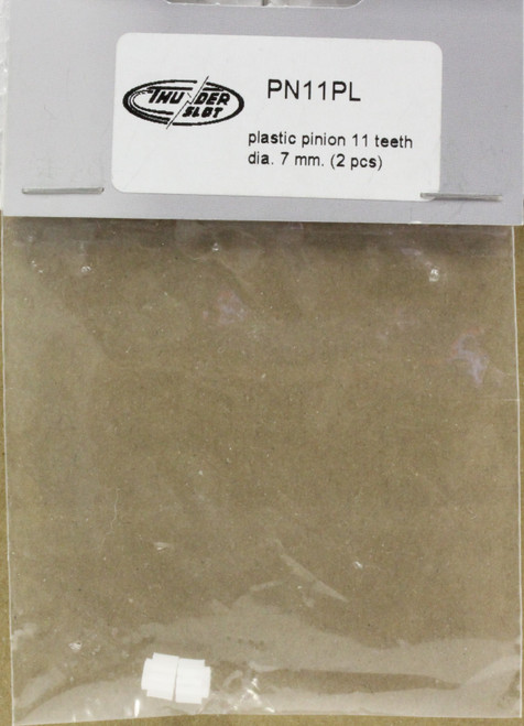 PN11PL Thunderslot Plastic Pinion Gear 11 Tooth 7mm 1:32 Slot Car Part