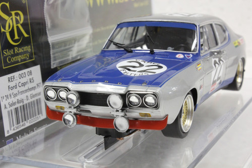 00308 SRC Ford Capri 2600 RS 24 Hrs Spa-Francorchamps 1971 Winner #22 1:32 Slot Car