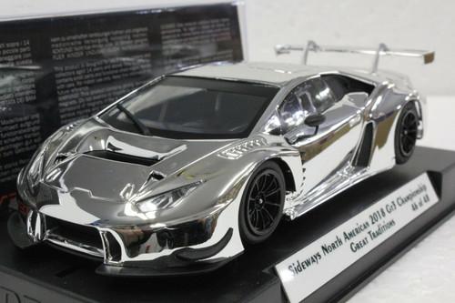 SWCAR01SILVER Racer Sideways Lamborghini Huracan GT3 - North American 2018 Championship - Silver 1:32 Slot Car